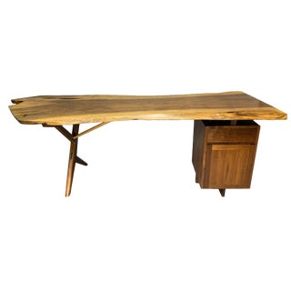 George Nakashima Large Conoid Writing Desk For Sale
