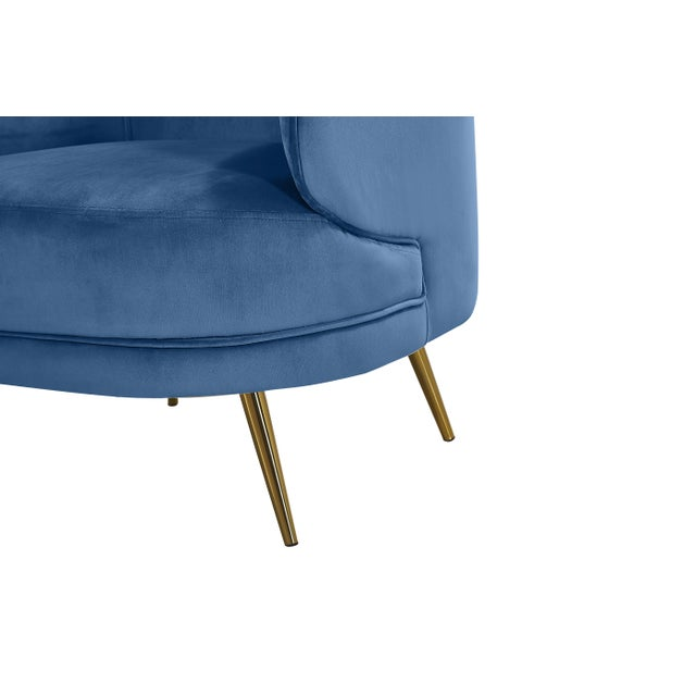 2010s Carrie Armchair in Blue For Sale - Image 5 of 6
