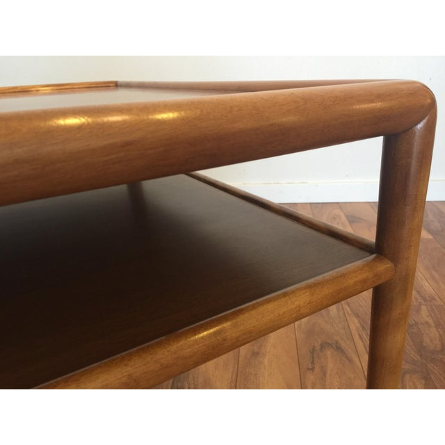 Walnut T.H. Robsjohn-Gibbings for Widdicomb Square Table For Sale - Image 7 of 10