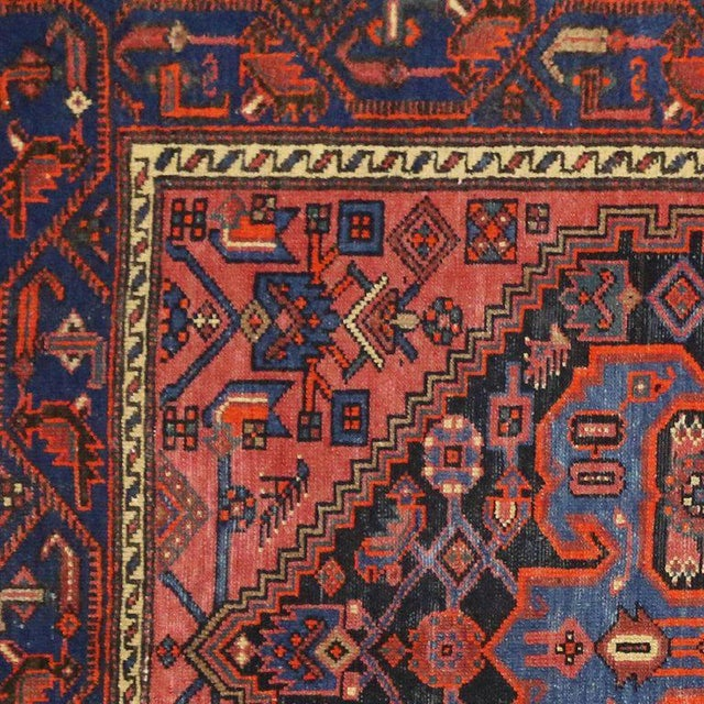 Antique Persian Hamadan Rug with Modern Tribal Style For Sale - Image 5 of 8