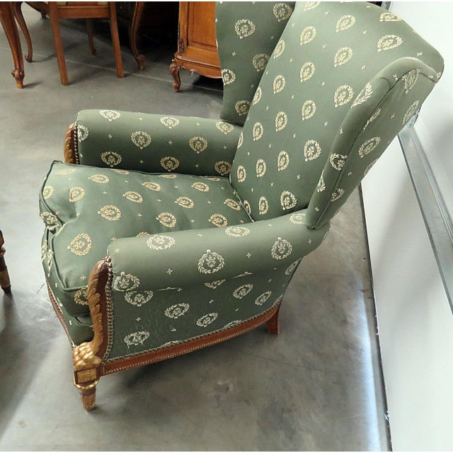 Jansen Regency Style Chair & Ottoman - A Pair For Sale In Philadelphia - Image 6 of 10
