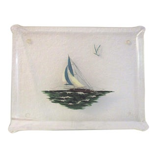 1950s Large Transparent Nautical Acrylic Tray For Sale