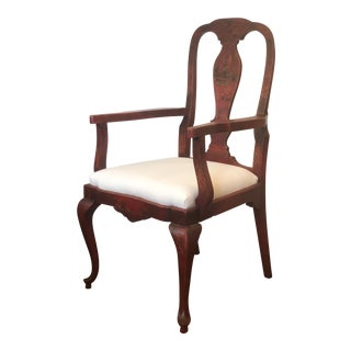 19th Century Red Japanese Arm Chair For Sale