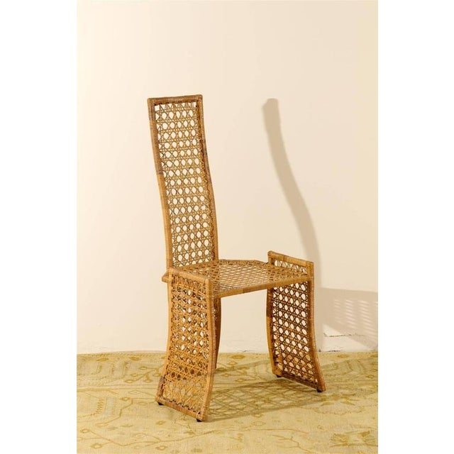Boho Chic Fabulous Set of Twelve Rattan Dining Chairs by Danny Ho Fong For Sale - Image 3 of 11