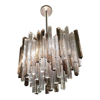 Mid-Century Camer Glass Prism Chandelier For Sale