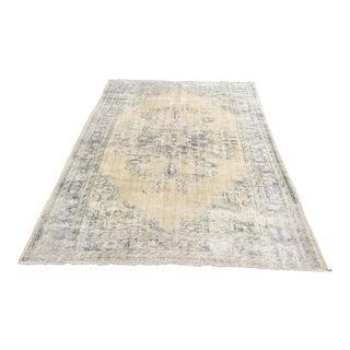 "Antique Oushak Tribal Turkish Carpet - 6'2"" x 9'3"""