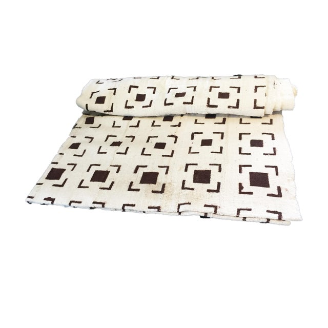 Brown and White Mud Cloth Textile Mali For Sale In New York - Image 6 of 8