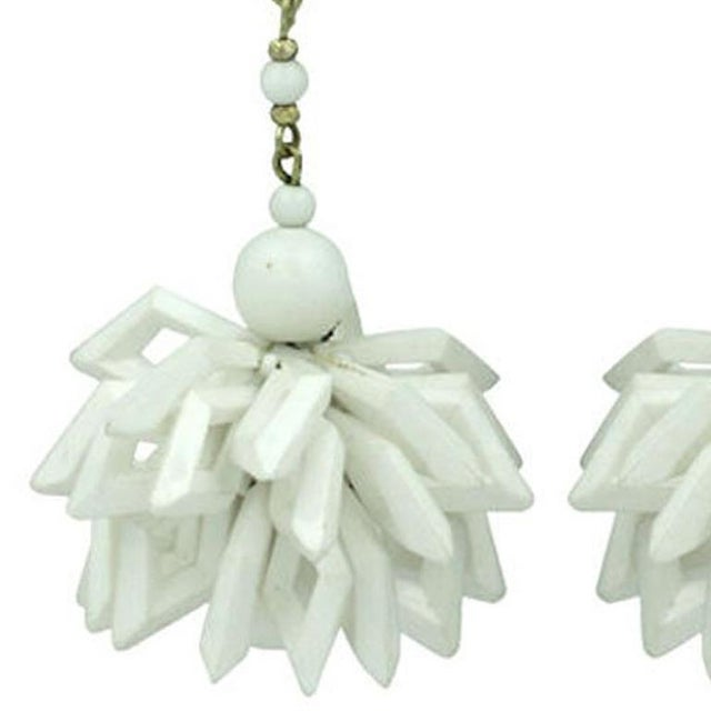 Miriam Haskell Miriam Haskell Summer White Earrings For Sale - Image 4 of 5