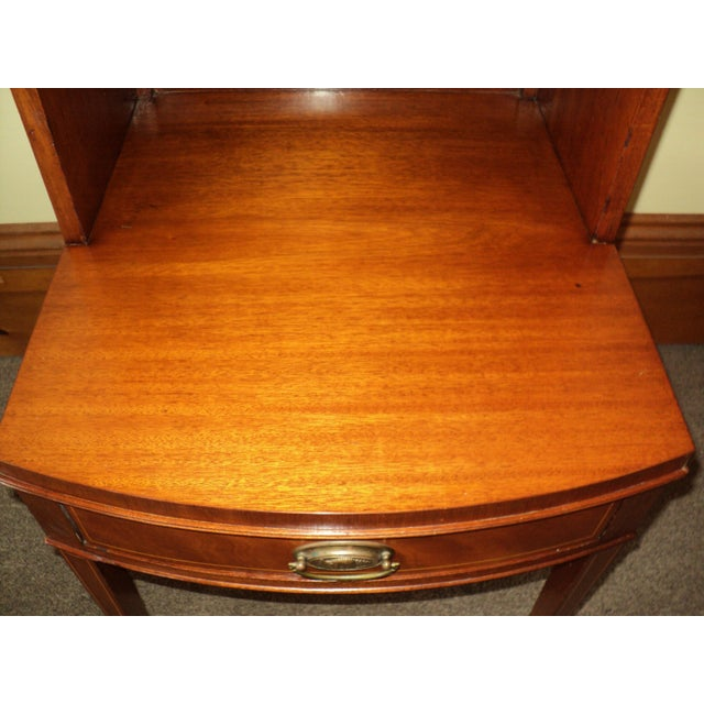 Antique Federal Style Mahogany Nightstands - A Pair - Image 6 of 8