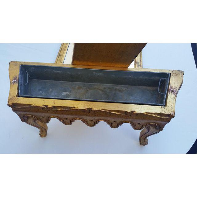 La Barge French Gold Pier Mirror & Console Table - Image 6 of 9