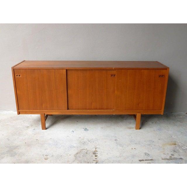 Faarup Møbelfabrik 1950s Mid Century Modern Danish Koford Larsen Teak & Rosewood Credenza For Sale - Image 4 of 13