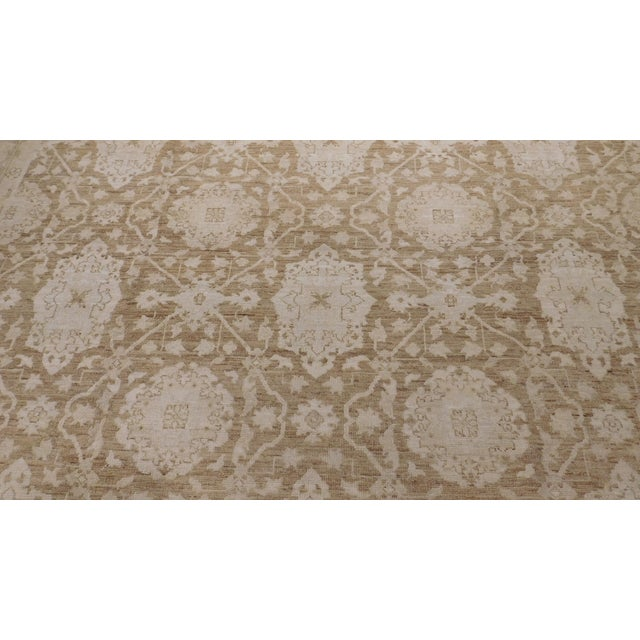 Antique Afghan Agra Revival Rug - 8′ × 10′ For Sale In Los Angeles - Image 6 of 6