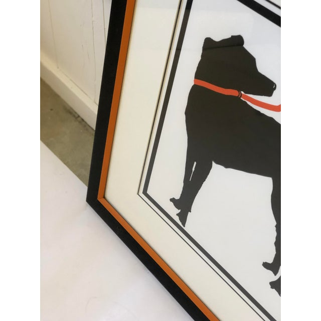 Stylized Artwork of a Dog on Orange Leash For Sale In Atlanta - Image 6 of 12