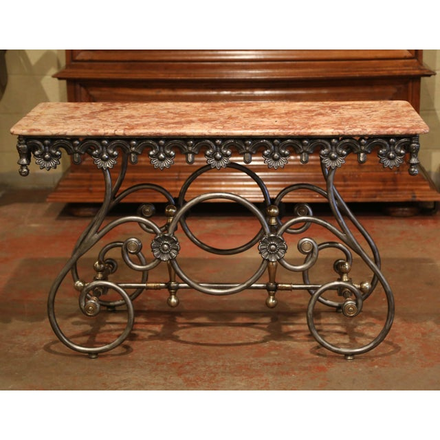 """This elegant narrow """"Table de Boucher"""" (butcher or pastry table) would add the ideal amount of surface space to any..."""