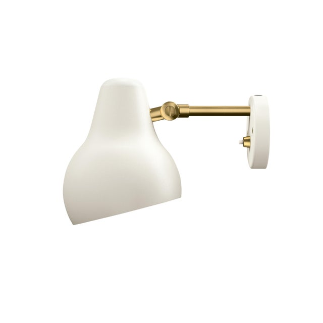 "Louis Poulsen Modern Vilhelm Lauritzen for Louis Poulsen ""Radiohus"" White Wall Light For Sale - Image 4 of 5"