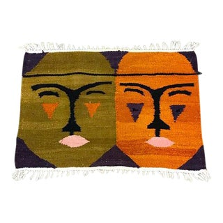 Mid-Century Woven Wool Wall Hanging