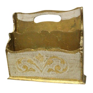 Italian Florentine Letter Holder For Sale
