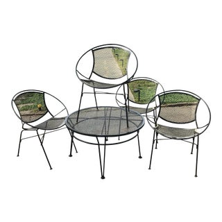 Salterini Patio Set, 5 Pieces For Sale