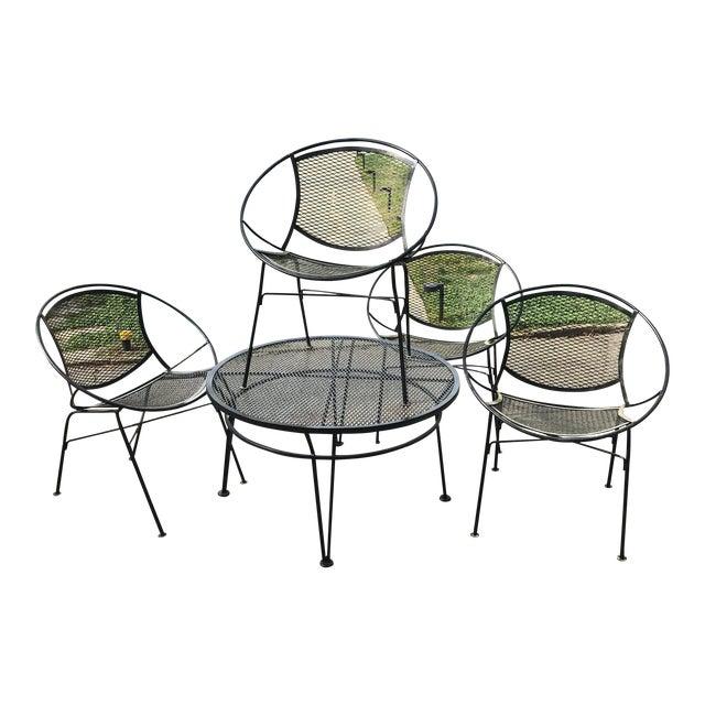 Salterini Patio Set, 5 Pieces For Sale