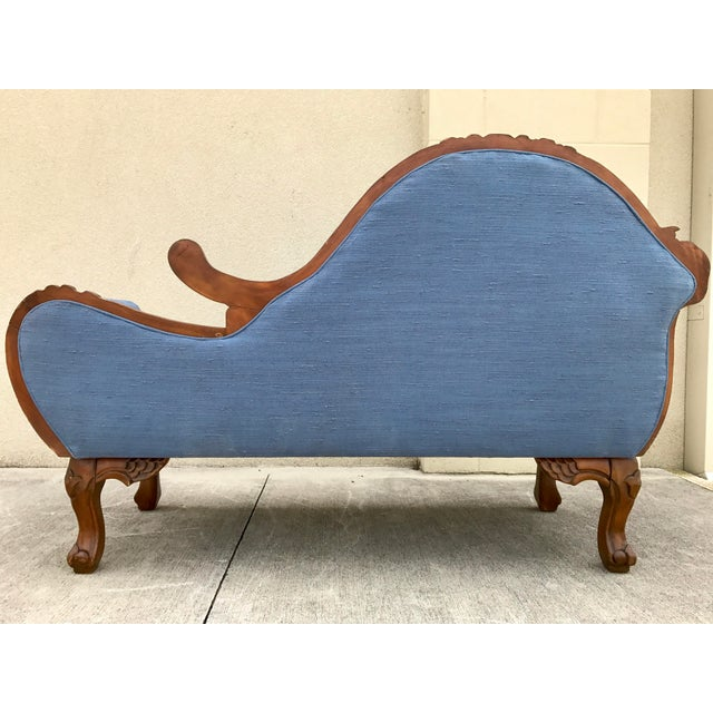 Antique Carved Wood Chaise - Image 5 of 10