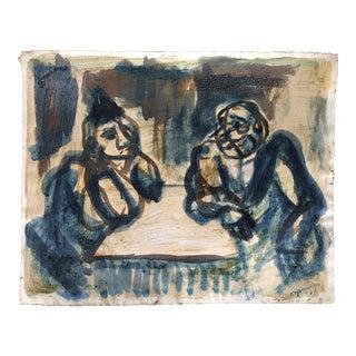 Original Benjamin Kopman Modernist Painting, Signed and Titled, 1937 For Sale