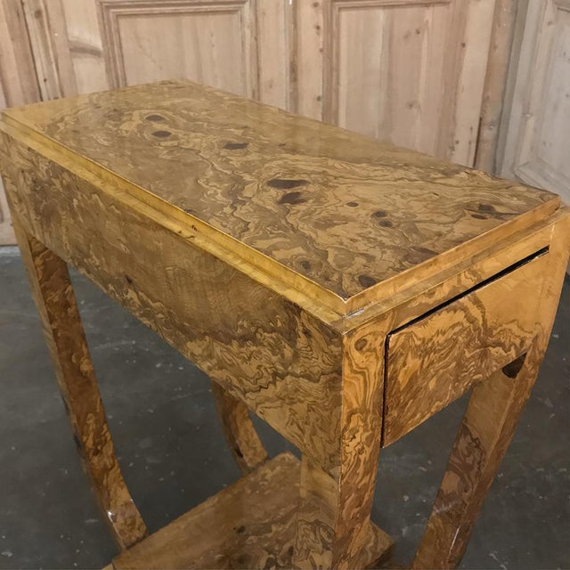 Pair Art Deco Burl Walnut End Tables For Sale In Dallas - Image 6 of 12