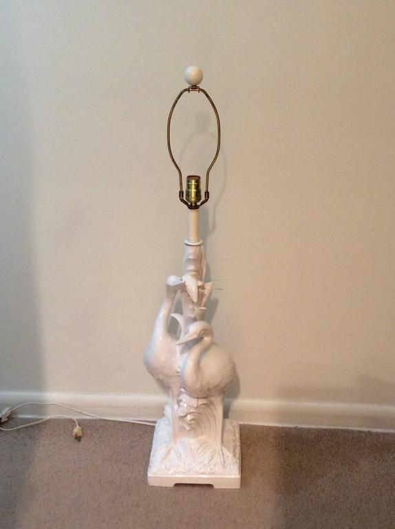 Vintage Italian White Heron Bird Table Lamp   Image 11 Of 11