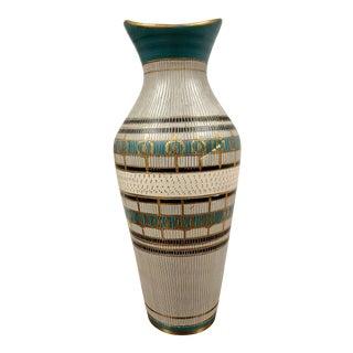 Aldo Londi Italian Mid Century Etched Vase For Sale