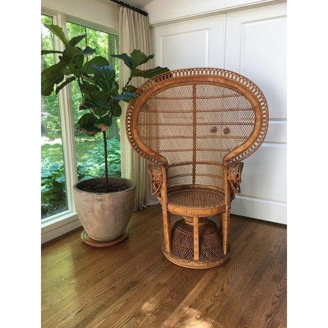 Vintage Emmanuel Wicker Peacock Chair For Sale - Image 13 of 13