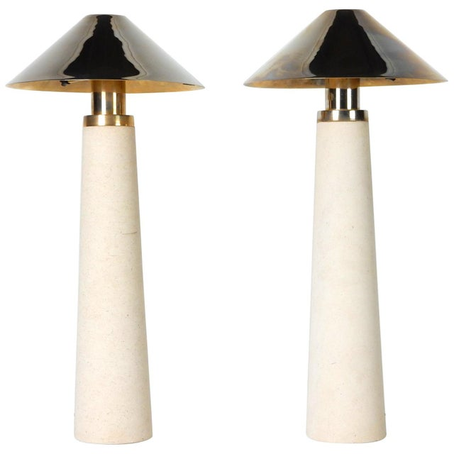 Documented Karl Springer Design Stone Lighthouse Table Lamp - A Pair For Sale - Image 10 of 10