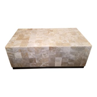 Modern Bernhardt Interiors Stone Onyx Trimbelle Coffee Table For Sale