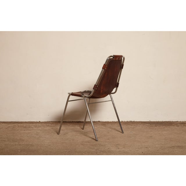 Mid-Century Modern Vintage Mid Century Les Arcs' Chairs Selected by Charlotte Perriand For Sale - Image 3 of 9