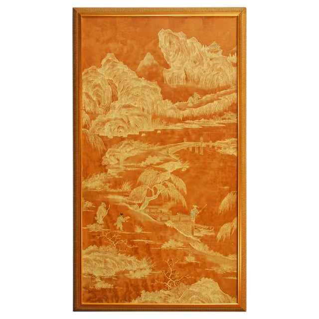 20th Century Chinese Painted Panel - Image 1 of 6