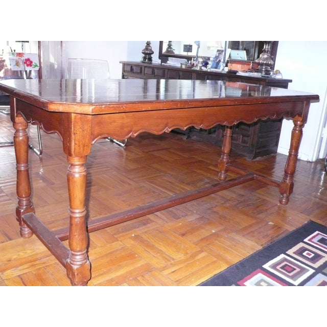 French Provincial Italian Library/Dining Table - Image 2 of 6