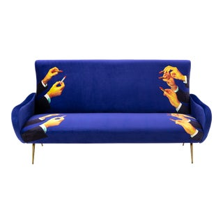 Seletti, Lipsticks Sofa, Blue, Toiletpaper, 2018 For Sale