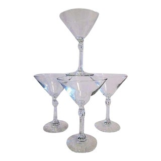 Mid-Century Libbey Stardust Martini Glasses - Set of 4 For Sale