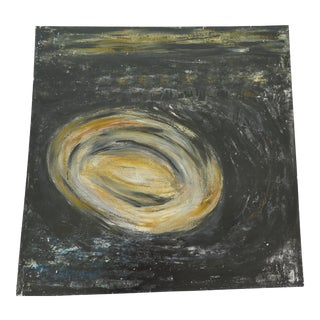 """""""Wormhole"""" 1970's Acrylic Painting For Sale"""