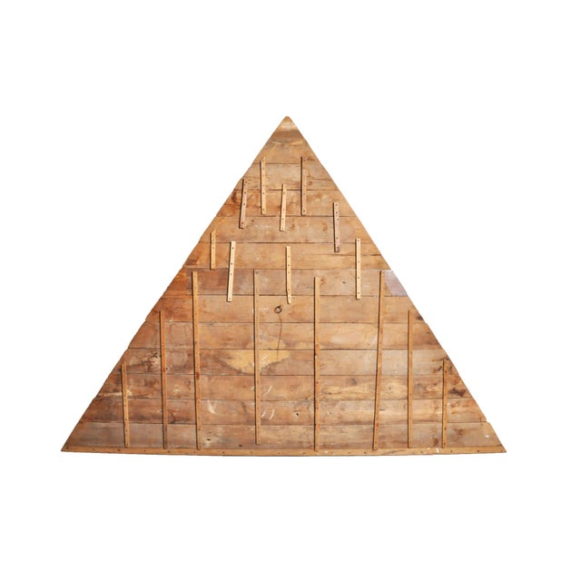 This architectural gable fragment is from Chiang Mai, Thailand and is made from teak wood.