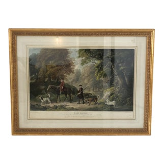 "Late 18th Century Antique ""The Game Keepers"" Henry Birch Framed Print For Sale"