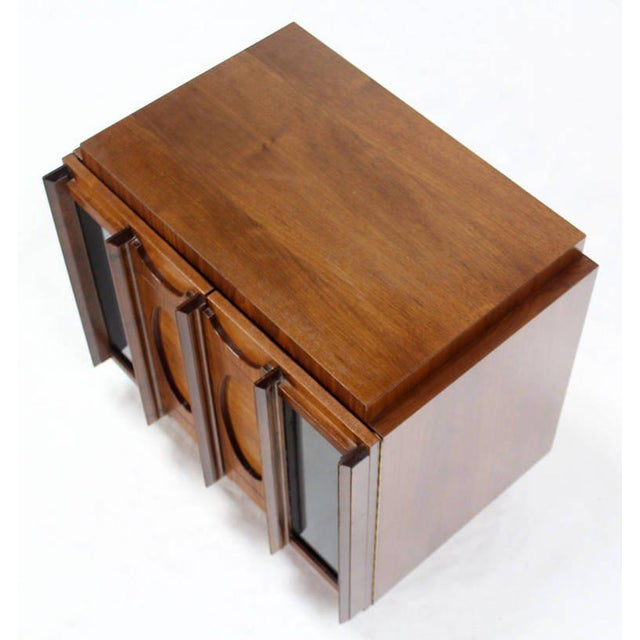 Brown Mid-Century Modern Oiled Walnut Night Stand or End Table For Sale - Image 8 of 10