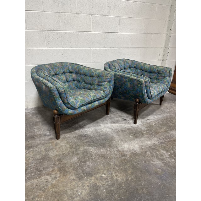 Blue 1970s Castro Convertible Barrel Chairs - a Pair For Sale - Image 8 of 8