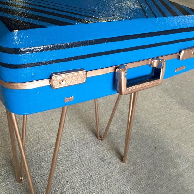 Vintage Retro Blue Suitcase Table - Image 7 of 7