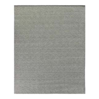 Exquisite Rugs Worcester Handwoven Wool Aluminum - 6'x9' For Sale