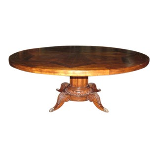 Century Furniture Classics Collection Norfolk Round Pedestal Dining Table With Inlaid Wood Top For Sale