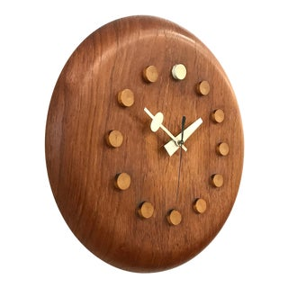 Vintage 1950s George Nelson / Fritz Hansen Wall Clock For Sale