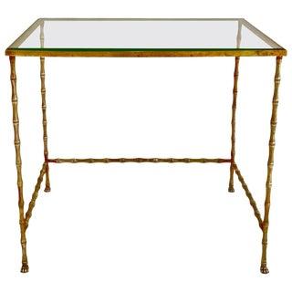 Elegant Brass Table by Maison Baguès, France, 1960s For Sale