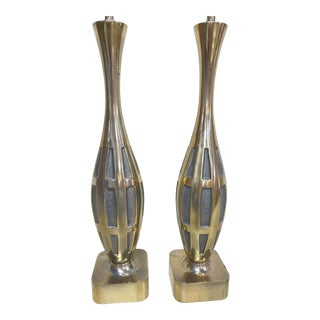 Westwood Industries Brutalist Style Brass Lamps For Sale