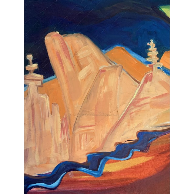 Large Surrealist Canvas Painting For Sale - Image 10 of 13