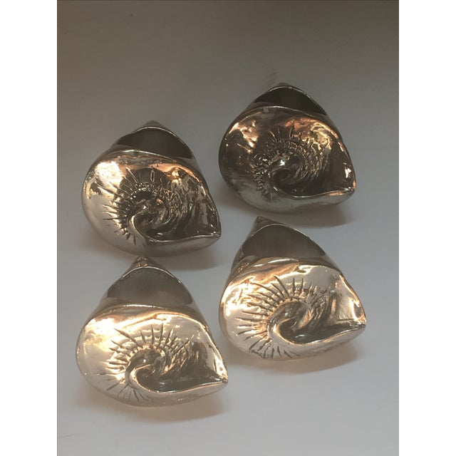 Silver Seashell Napkin Rings - Set of 4 - Image 3 of 7