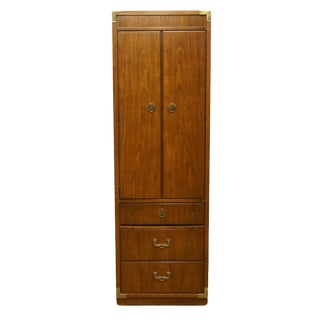 """20th Century Campaign Thomasville Furniture Continuity Collection 24"""" Pier Cabinet For Sale"""